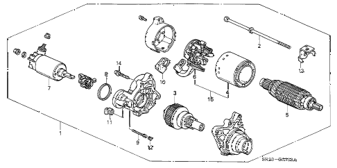 1993 del SI 2 DOOR 4AT STARTER MOTOR (MITSUBA) (2) diagram