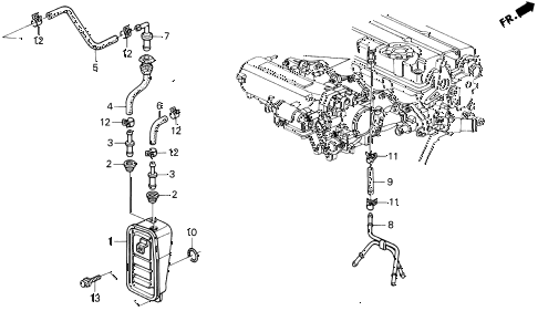 1994 del V-TEC 2 DOOR 5MT BREATHER CHAMBER (V-TEC) diagram
