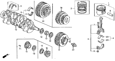 1995 del V-TEC 2 DOOR 5MT CRANKSHAFT - PISTON diagram