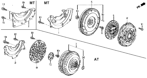 1994 del SI 2 DOOR 4AT CLUTCH - TORQUE CONVERTER diagram