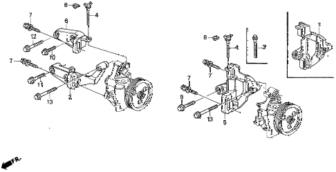 1995 del SI 2 DOOR 5MT P.S. PUMP - BRACKET diagram
