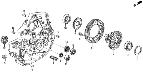 1997 del S 2 DOOR 5MT MT CLUTCH HOUSING (S,SI) diagram