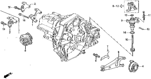 1995 del SI 2 DOOR 5MT MT CLUTCH RELEASE (S,SI) diagram