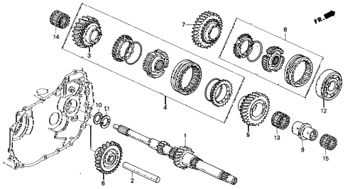 1993 del S 2 DOOR 5MT MT MAINSHAFT (S,SI) diagram