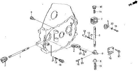1997 del SI 2 DOOR 5MT MT SHIFT ROD - SHIFT HOLDER (S,SI) diagram