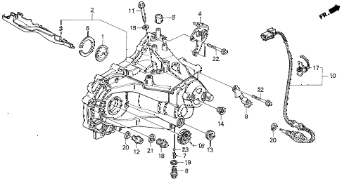 1995 del V-TEC 2 DOOR 5MT MT TRANSMISSION HOUSING (V-TEC) diagram