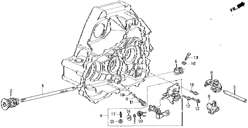 1996 del V-TEC 2 DOOR 5MT MT SHIFT ROD - SHIFT HOLDER (V-TEC) diagram