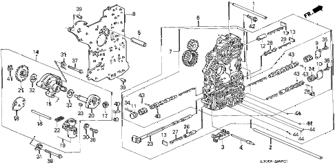 1994 civic DX 3 DOOR 4AT AT MAIN VALVE BODY diagram