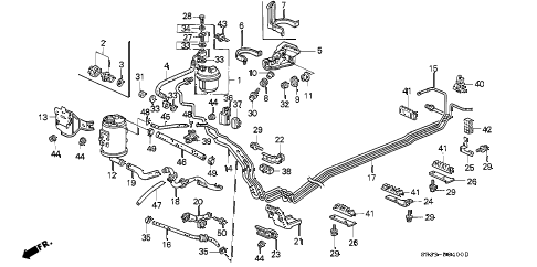 1994 civic SI 3 DOOR 5MT FUEL PIPE (1) diagram