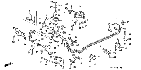 1995 civic CX 3 DOOR 5MT FUEL PIPE (2) diagram