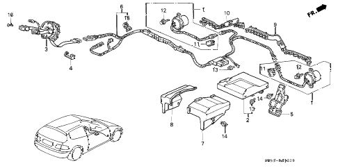 1993 civic CX 3 DOOR 5MT SRS UNIT (1) diagram