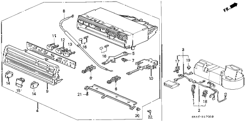 1994 civic DX 3 DOOR 5MT HEATER CONTROL diagram