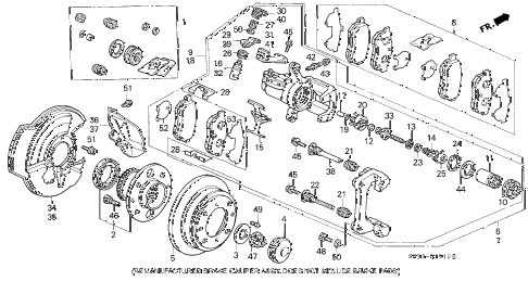 1994 civic SI(ABS) 3 DOOR 5MT REAR BRAKE (DISK) diagram