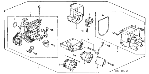1994 civic DX 3 DOOR 5MT DISTRIBUTOR (TEC) diagram