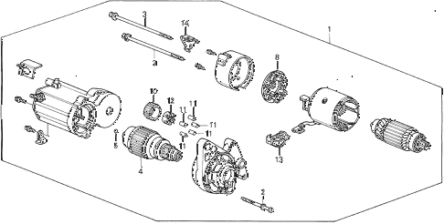 1992 civic SI 3 DOOR 5MT STARTER MOTOR (DENSO) (2) diagram