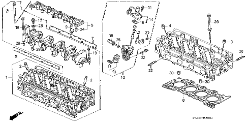 1994 civic SI(ABS) 3 DOOR 5MT CYLINDER HEAD (2) diagram