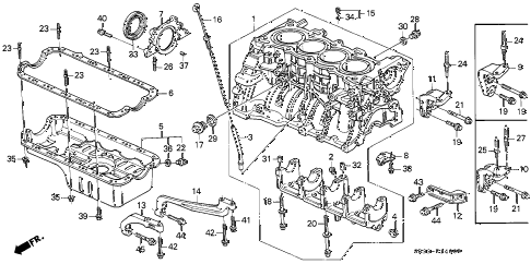 1994 civic VX 3 DOOR 5MT CYLINDER BLOCK - OIL PAN diagram