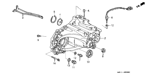 1994 civic SI(ABS) 3 DOOR 5MT MT TRANSMISSION HOUSING diagram