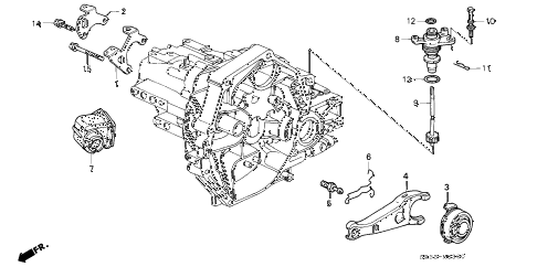 1995 civic DX 3 DOOR 5MT MT CLUTCH RELEASE diagram