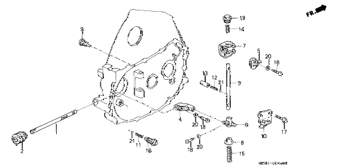 1992 civic VX 3 DOOR 5MT MT SHIFT ROD - SHIFT HOLDER diagram