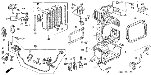 1992 civic VX 3 DOOR 5MT A/C UNIT (1) diagram