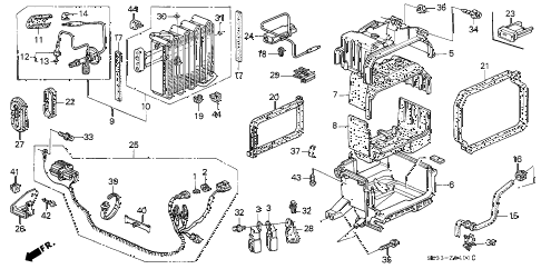 1994 civic VX 3 DOOR 5MT A/C UNIT (2) diagram