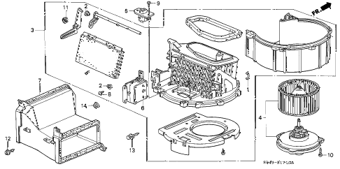 1995 civic DX 4 DOOR 5MT HEATER BLOWER diagram