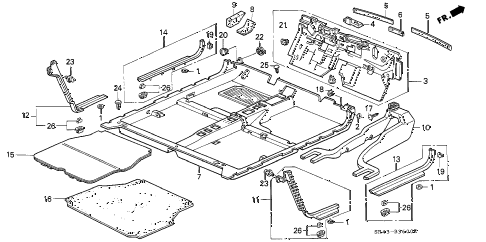 1994 civic DX 4 DOOR 4AT FLOOR MAT diagram