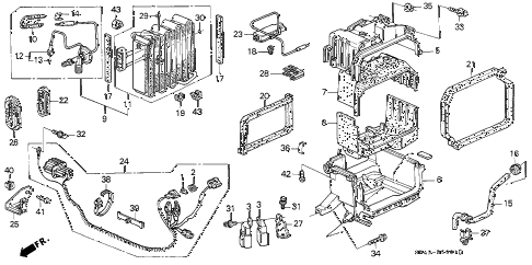 1995 civic LX 4 DOOR 4AT A/C UNIT (2) diagram