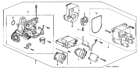 1994 civic LX 4 DOOR 5MT DISTRIBUTOR diagram