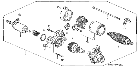1994 civic LX(ABS) 4 DOOR 4AT STARTER MOTOR (MITSUBA) (2) diagram
