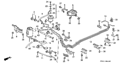 1995 civic DX 2 DOOR 5MT FUEL PIPE (2) diagram