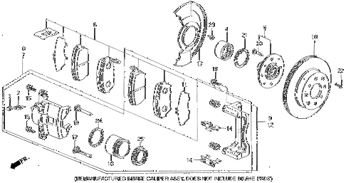 1995 civic EX(ABS) 2 DOOR 4AT FRONT BRAKE (3) diagram