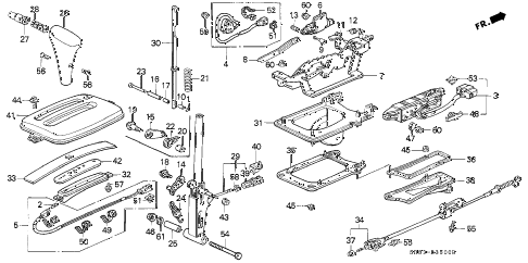 1994 civic EX(ABS) 2 DOOR 4AT SELECT LEVER diagram