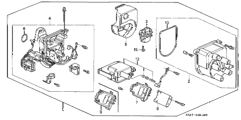 1995 civic DX 2 DOOR 5MT DISTRIBUTOR (TEC) diagram