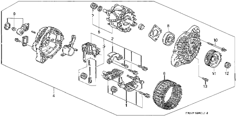 1995 civic DX 2 DOOR 5MT ALTERNATOR (MITSUBISHI) (2) diagram