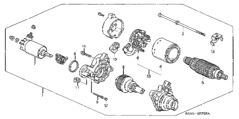 1995 civic EX(ABS) 2 DOOR 5MT STARTER MOTOR (MITSUBA) (2) diagram