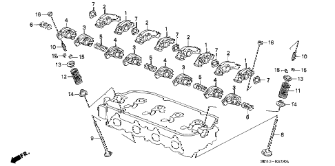 1993 civic DX 2 DOOR 5MT VALVE - ROCKER ARM (1) diagram