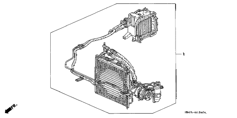 1995 civic EX 2 DOOR 5MT KIT diagram