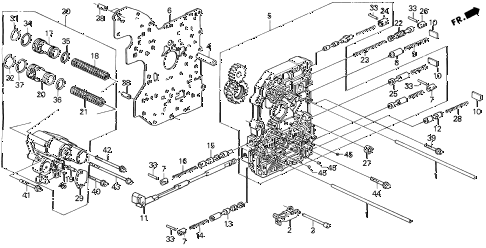 1992 prelude S 2 DOOR 4AT AT MAIN VALVE BODY diagram