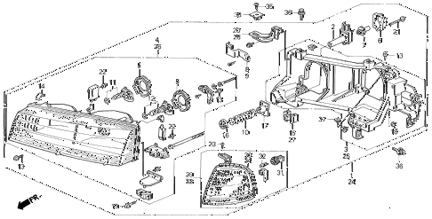 1992 prelude S 2 DOOR 5MT HEADLIGHT diagram