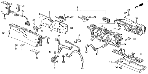 1994 prelude SI(4WS) 2 DOOR 5MT METER COMPONENTS (2) diagram