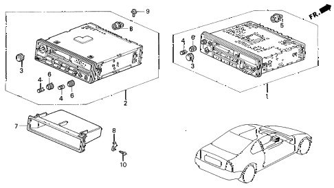 1992 prelude S 2 DOOR 4AT AUTO RADIO diagram