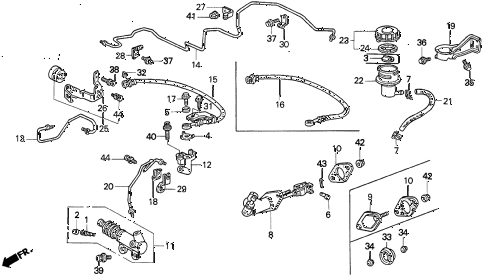 1994 prelude SIVTEC 2 DOOR 5MT CLUTCH MASTER CYLINDER diagram