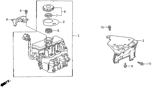 1994 prelude SI 2 DOOR 4AT ABS MODULATOR diagram