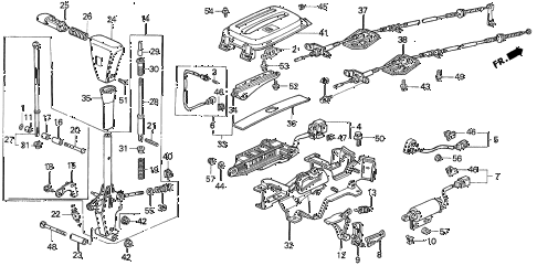 1996 prelude SI 2 DOOR 4AT SELECT LEVER diagram