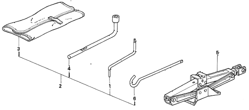 1992 prelude SI(4WS) 2 DOOR 5MT TOOLS - JACK diagram