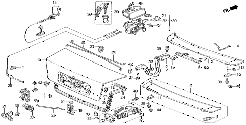 1996 prelude SI 2 DOOR 5MT TRUNK LID diagram