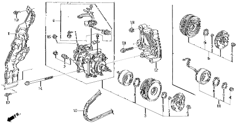 1996 prelude SI 2 DOOR 5MT A/C COMPRESSOR (HADSYS) diagram