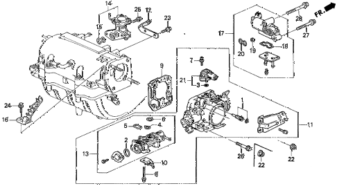 1993 prelude SI(4WS) 2 DOOR 5MT THROTTLE BODY (2) diagram